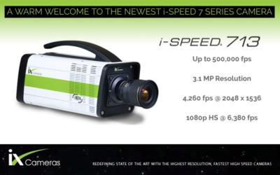 New iX Cameras i-SPEED 713 Camera