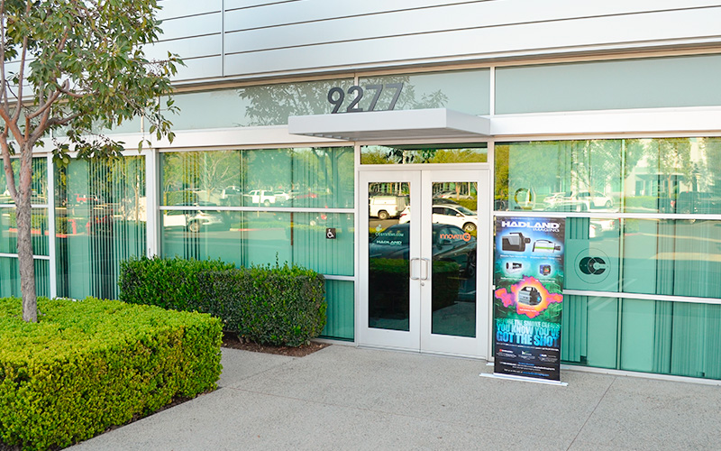 Store front of Hadland Imaging office in Irvine, California.