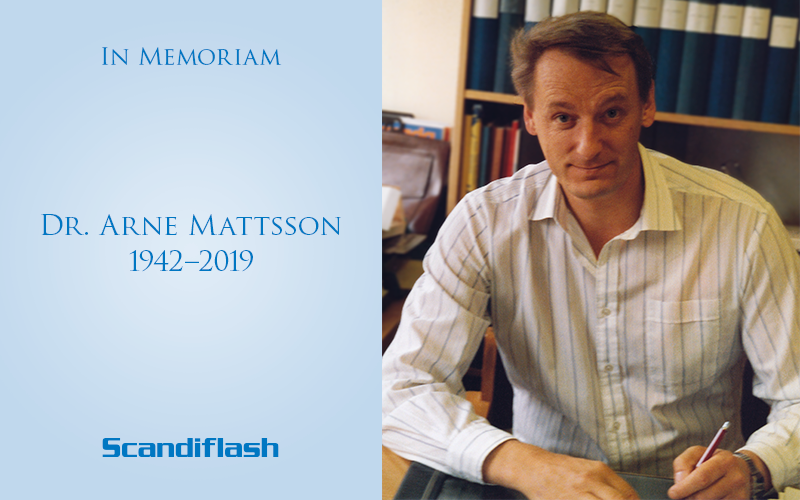 In Memoriam, Dr, Arne Mattsson, 1942–2019, president of Scandiflash AB.
