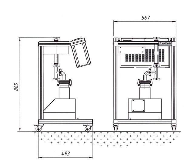 Shimadzu Hyper Vision HPV-X2 with power supply unit.
