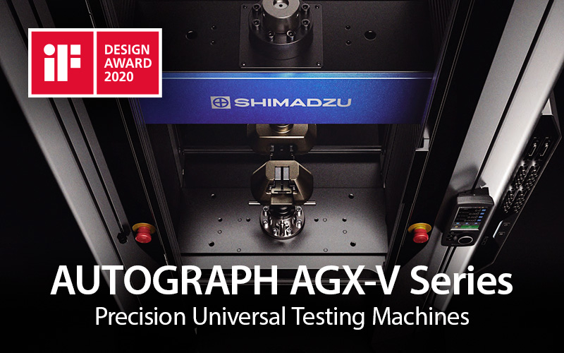 The Shimadzu AGX-V Series Precision Universal Testing Machine Wins an iF DESIGN AWARD 2020