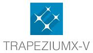 Shimadzu TRAPEZIUMX-V logo.