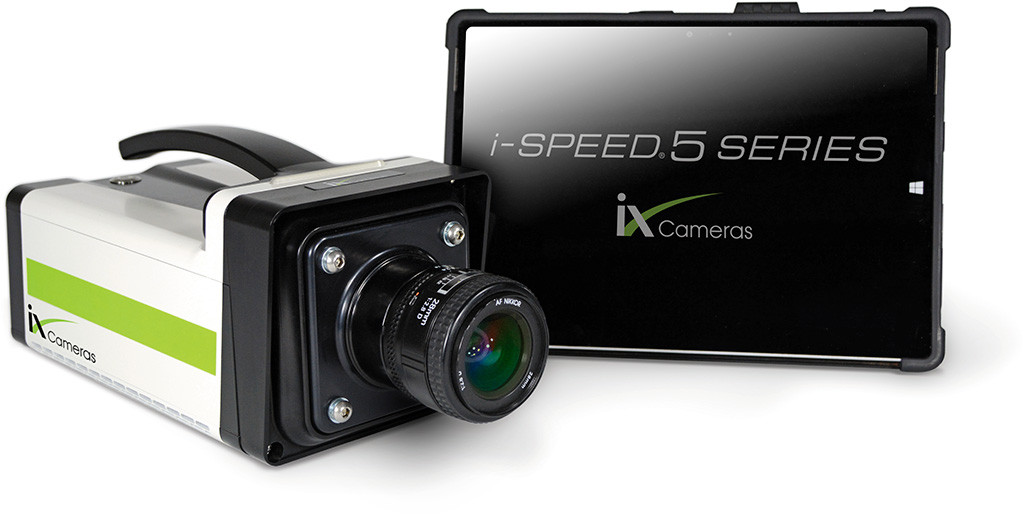 iX Cameras i-SPEED 5 Series HD, high-speed mid-range video camera and touchscreen CDUe.