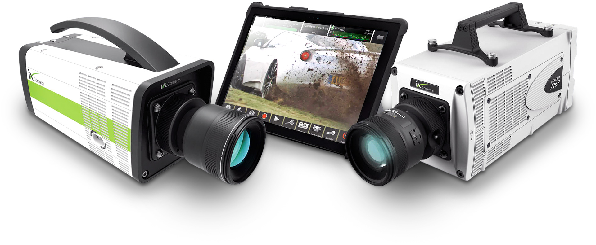 i-SPEED 7 Series instrumentation and rugged cameras with CDUe.
