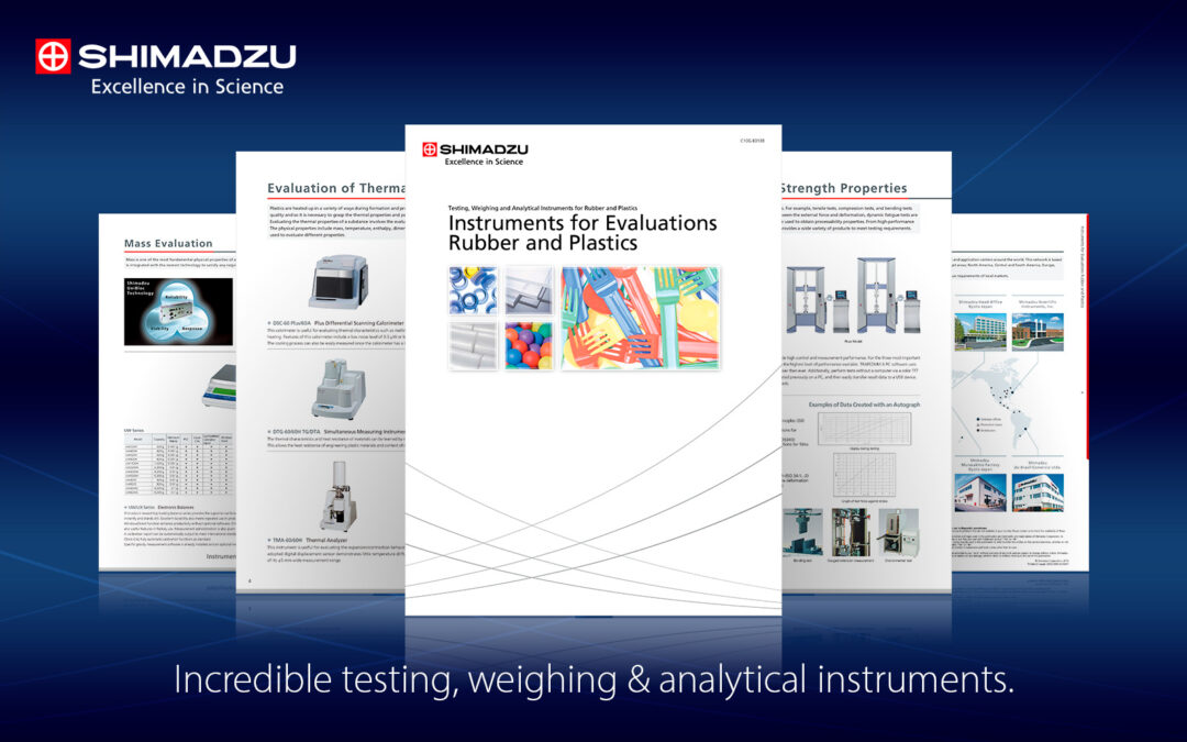 Shimadzu Scientific Instruments for Evaluations of Rubber and Plastics