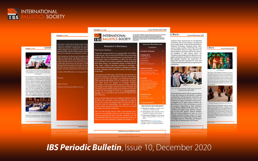 IBS Newsletter, Issue 10, December 2020