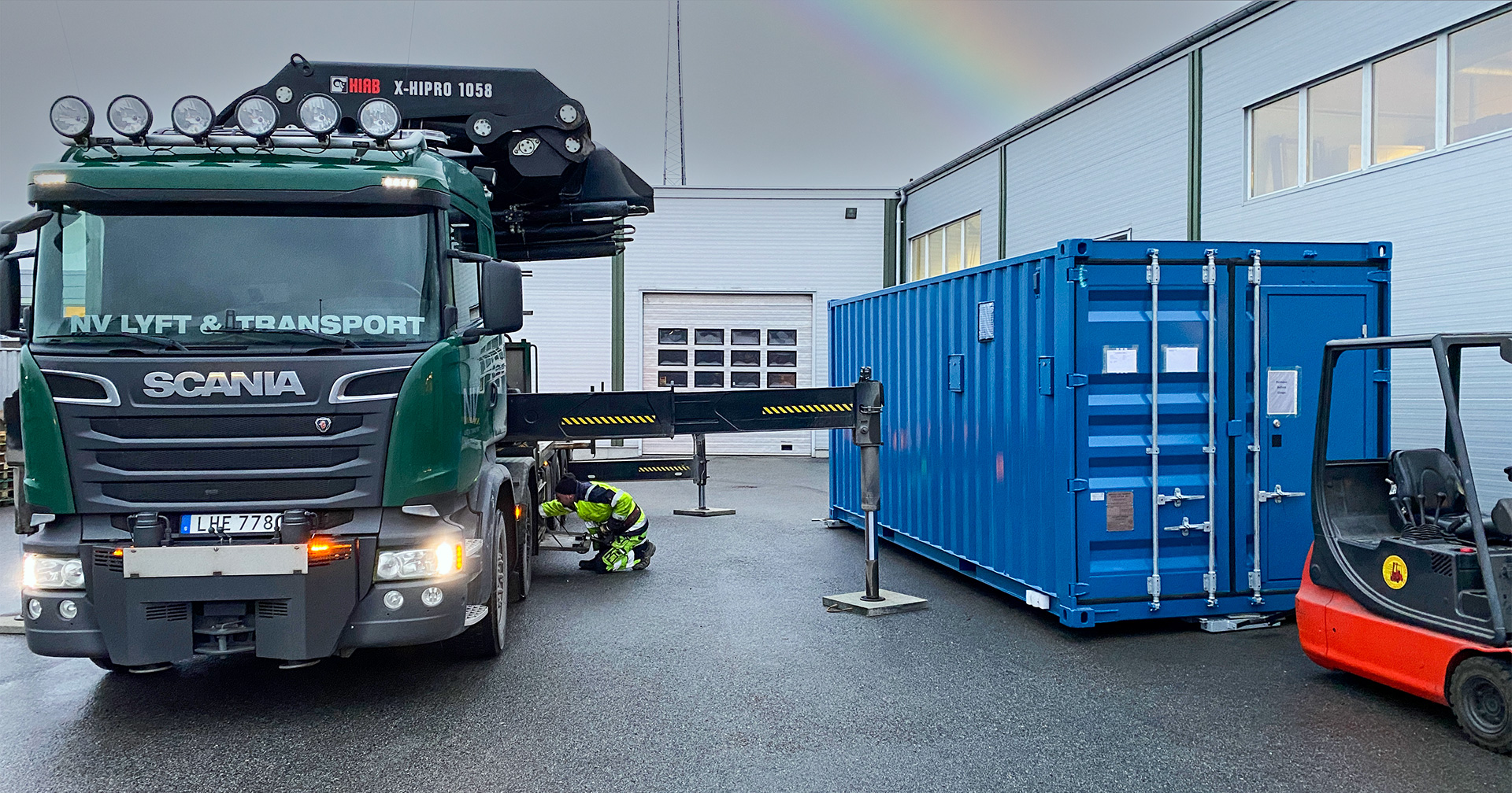Scandiflash FXR container mobile Flash X-ray solution exterior.