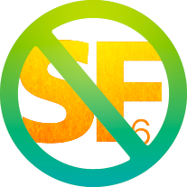 Scandiflash SF6 symbol.