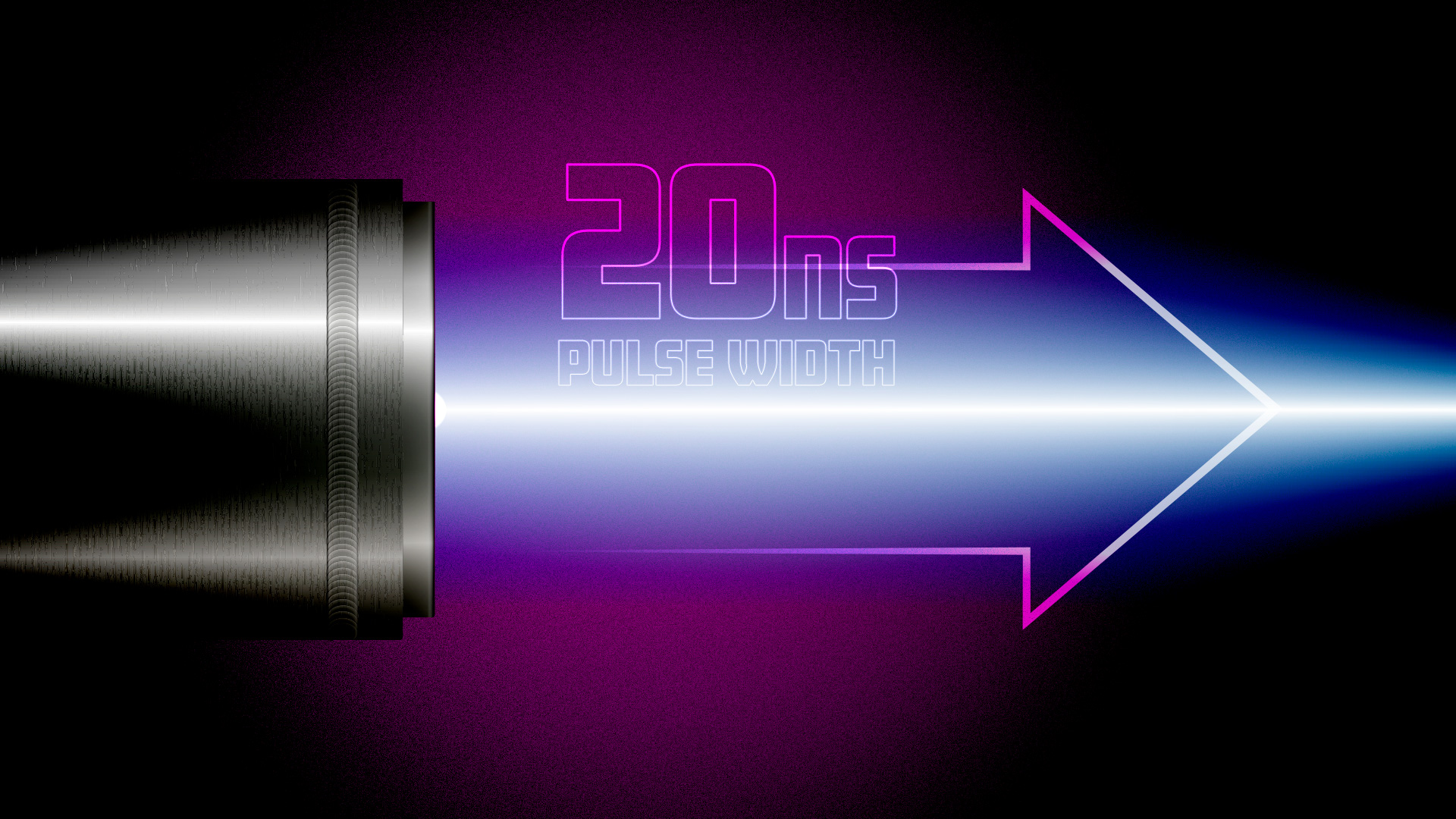 Scandiflash 20 nanosecond pulse width for fast gating times.