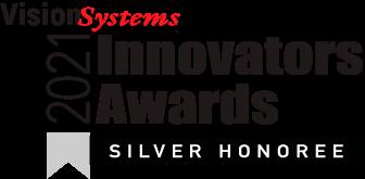 Vision Systems Design 2021 Innovators Award Silver Honoree badge.