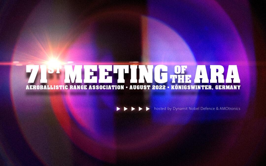 71st Meeting of the ARA (Aeroballistic Range Association) August 2022 in Königswinter, Germany