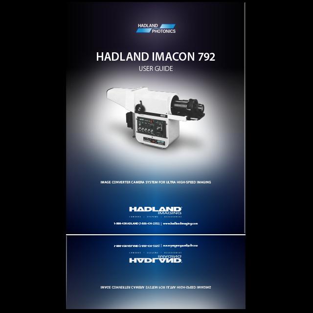 HADLAND IMACON 792 User Guide icon.