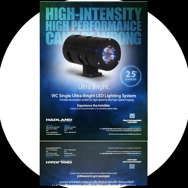 Hadland Imaging datasheet for VIC Single Ultra-Bright LED Lighting System.