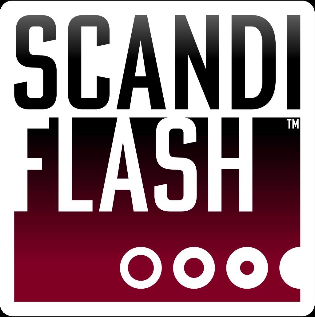 Scandiflash logo with gradient.