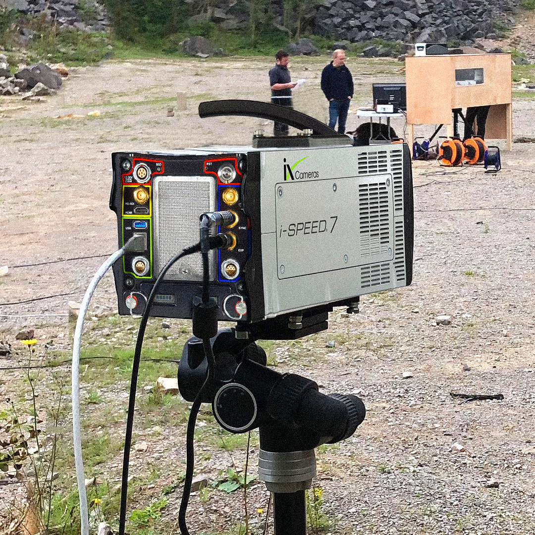 iX Cameras rugged High-G Next Generation i-SPEED 7 Series camera in the field.