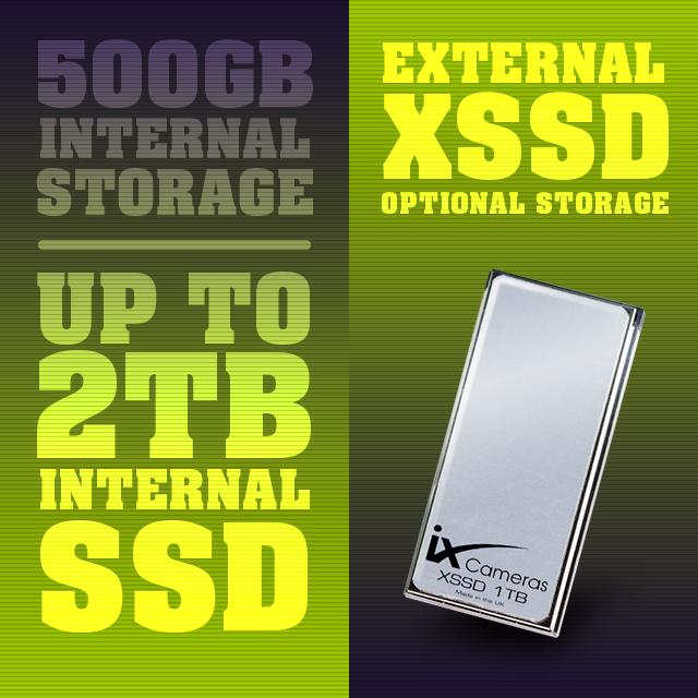 iX Cameras i-SPEED 7 Series G2 internal and external storage options.