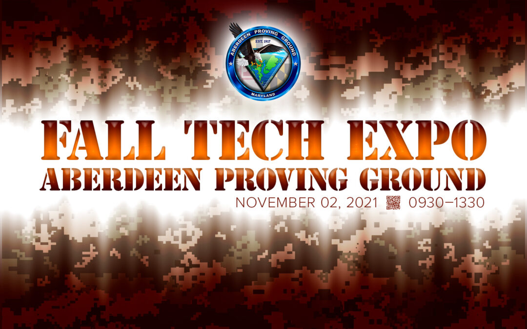 2021 Fall Tech Expo at Aberdeen Proving Ground hero image.